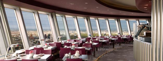 Skip the line to the TV Tower in Berlin and reserve an inner circle or window table in the Sphere restaurant! Likely to sell out, so book your ticket ahead!
