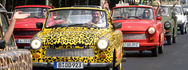 Explore Berlin from a Trabi! Choose between three tours. Drive around in your Trabi and see the highlights of Berlin. Book your Trabi online today!