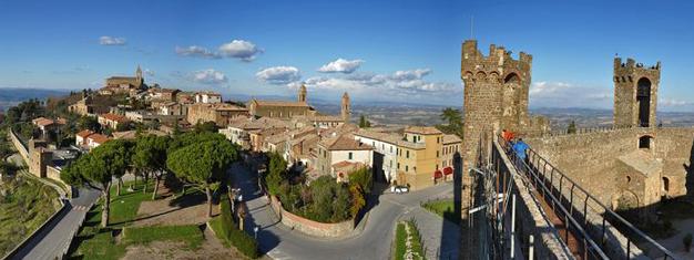 Venez dans cette visite incroyable du Val d'Orcia en Toscane. La visite est au départ de Florence. Dégustation de vins et amuse-bouches sont inclus. Réservez en ligne dès aujourd'hui!