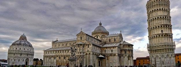 Visita Pisa y sus puntos destacados: La Plaza de los Milagros y la Torre de Pisa. Transporte desde/hasta Florencia incluido. Reserva tu tour a Pisa hoy!