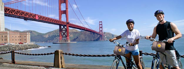 The California Sunset Bike Tour takes you to see the San Francisco at sunset when its the most pretty across the Golden Gate Bridge. Book your tickets now!