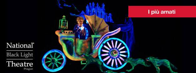 Il Teatro Black Light è un teatro in vero stile tradizionale praghense. Acquistate qui i vostri biglietti per il Teatro Black Light!