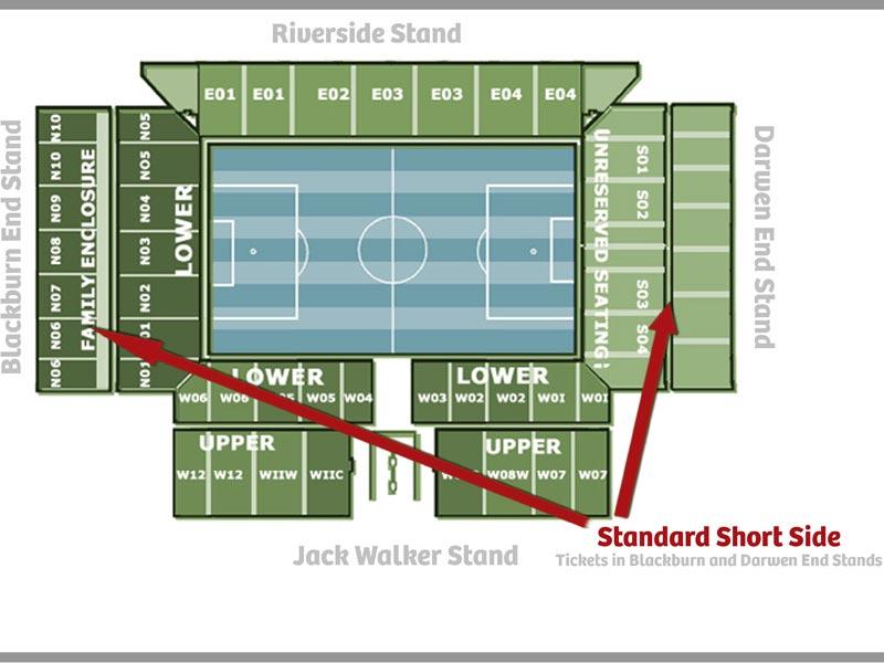 Plan de l'arène Ewood Park