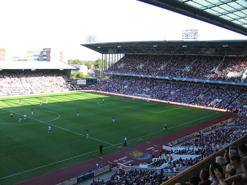 Arena info. Boleyn Ground Upton Park. LondonFodbold.dk
