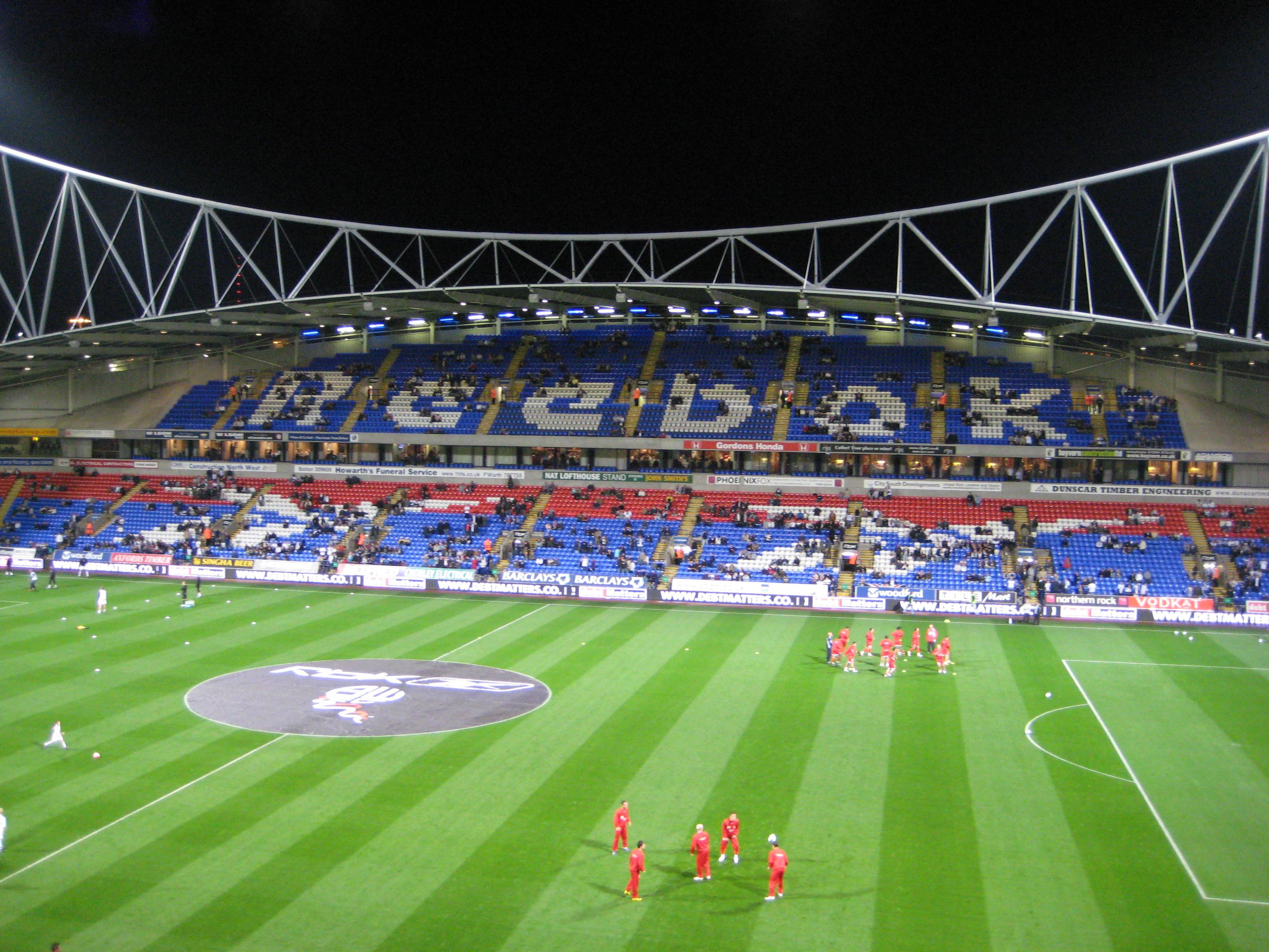 Arène/Stade Reebok Stadium . ManchesterLiverpool.fr