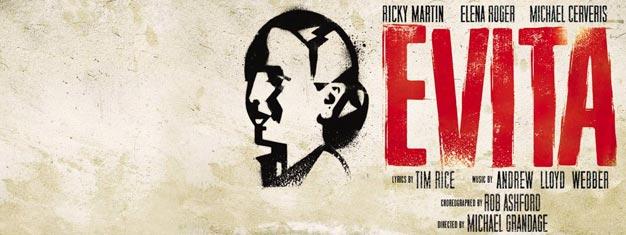 Andrew Lloyd Webberin ja Tim Ricen mestariteos Evita New Yorkin Broadwaylla. Liput Evitaan New Yorkin Broadwaylla täältä!