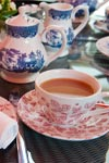 Buckingham Palace og engelsk te