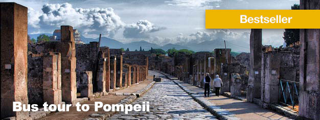 This bus tour to Pompeii is an amazing journey back to the ancient ruins and people of Pompeii. Lunch is included. Book Pompeii tour here!