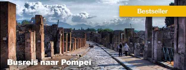 Deze busreis naar Pompeï is een wonderlijke trip terug in de tijd van de oude ruïnes van Pompeï. Lunch is inclusief. Boek uw tour naar Pompeï here!