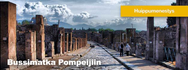 Tämä bussiretki Pompejiin on uskomaton matka muinaisen Pompejin raunioille. Lounas sisältyy hintaan. Osta matkasi Pompejiin täältä!