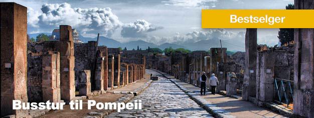 Dette bussturen til Pompeii er en fantastisk reise til den antikke byens gamle ruiner. Lunsj er inkludert. Bestill tur til Pompeii her!