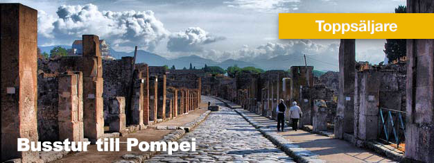 Denna heldagstur från Rom till Pompeji är en fantastisk resa tillbaka i tiden, till de gamla ruinerna i Pompeji. Lunch ingår. Boka din Busstur till Pompeji här!