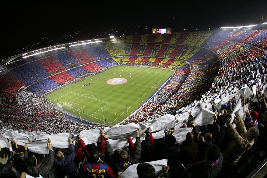 Camp Nou. BarcelonaFotball.no