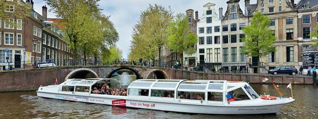 Køb dine billetter til Hop-af Hop-på Kanalbus i Amsterdam og tag på hop-af hop-på sightseeing cruise i Amsterdams kanaler. Bestil billetter til Hop-af Hop-på Kanalbus her!