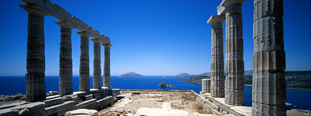 Discover Cape Sounion and the magnificent Temple of Poseidon. Take in views of the Saronic Gulf. Book your tour to the Temple of Poseidon here!