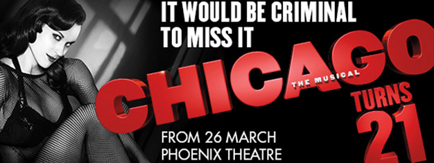 The sexiest, sassiest, most sophisticated Broadway musical in history, Chicago is now celebrating 21 incredible years of standing ovations. Book online!