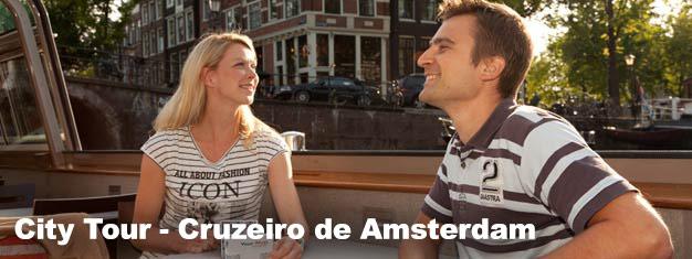 Reserve online seus ingressos para o City Tour - Cruzeiro de Amsterdam e descubra as belezas da cidade viajando por seus canais, reconhecidos como Patrimônio da Humanidade!