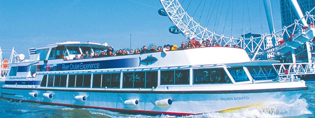 Enjoy this beautiful 40 minutes sightseeing cruise on the River Thames and see London! Book a ticket to a River Cruise online!