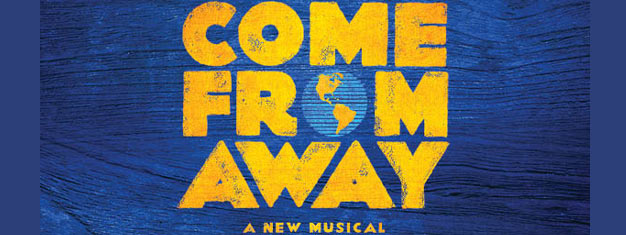 Come From Away er den betagende nye musical, som handler om 38 fly med 6579 passagerer som strander i en øde by i Newfoundland. Bestil billetter online!