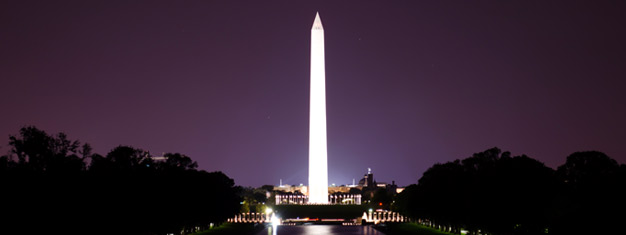 Experience the splendor of Washington D.C. flooded in lights after dark! Admire the illuminated memorials and monuments at night! Book your tour online!