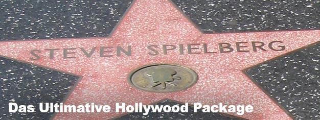 Das Ultimative Hollywood Package beinhaltet Tickets für: Die Villen der Filmstars Tour, 24-Stunden Hop-On-Hop-Off-Pass und Eintritt zu Madame Tussauds.