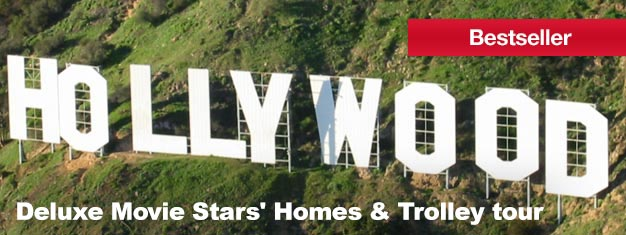 Have you ever dreamt of seeing Hollywood and Beverly Hills? Then come with us on the Deluxe Movie Stars' Homes and Trolley Tour! Get your tickets here.
