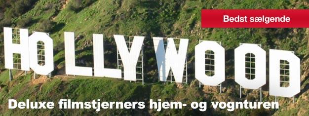 Har du nogensinde drømt om at opleve Hollywood og Beverly Hills? Så kom med os på vores Deluxe Movie Stars' Homes & sporvogn tur! Køb dine billetter her.