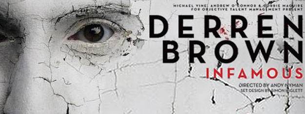Derren Brown returns to London's West End with a brand new live show; Infamous. Tickets for Derren Brown's show Infamous in London can be booked here!