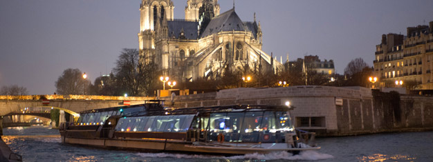 Combine a dinner with a sightseeing cruise in Paris! Enjoy a 2-course dinner at Bistro Parisien followed by a scenic sightseeing cruise. Book online!