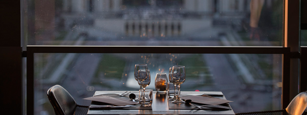 Enjoy a dinner and the view of Paris from Restaurant 58 in the Eiffel Tower. Skip the line and go directly up into the Eiffel Tower and enjoy a lovely dinner!