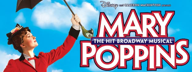 Mary Poppins, das berühmte Disney Musical, wird am Broadway in New York aufgeführt. Tickets für Mary Poppins sind hier erhältlich!