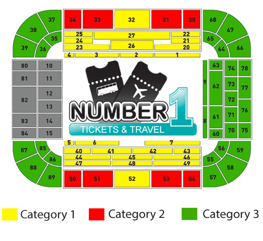 Seatingplan Westfalenstadion