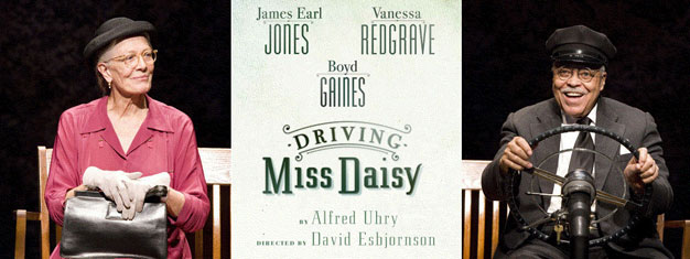 Gå ikke glip af  Driving Miss Daisy i London, med legender som James Earl Jones. Bestil billetter til Driving Miss Daisy in London her!