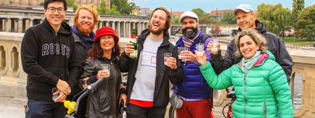 Try our Evening Food Tour by Bike and explore the vibrant neighborhood of Prenzlauer Berg! Visit three places. All food is included! Book online!