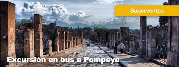 Este tour en bus a Pompeya es un increíble viaje hasta las antiguas ruinas de Pompeya. Almuerzo incluido. Reserva tu tour a Pompeya aquí!