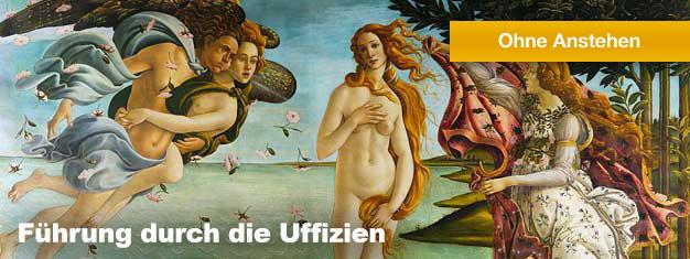 Die Uffizien mit derGalleria degli Uffizimüssen Sie einfach sehen! Das Museum beherbergt die feinsten Kunstwerke der Italienischen Renaissance. Buchen Sie Ihre Tour online und überspringen Sie die Warteschlangen!