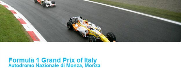 F1 Grand Prix Monzan radalla Milanon ulkopuolella Italiassa on yksi parhaista F1-kisoista. Myymme kaikentyyppisiä lippuja Monzan F1-kisaan. Lippuja F1-kisaan voidaan ostaa online täältä!