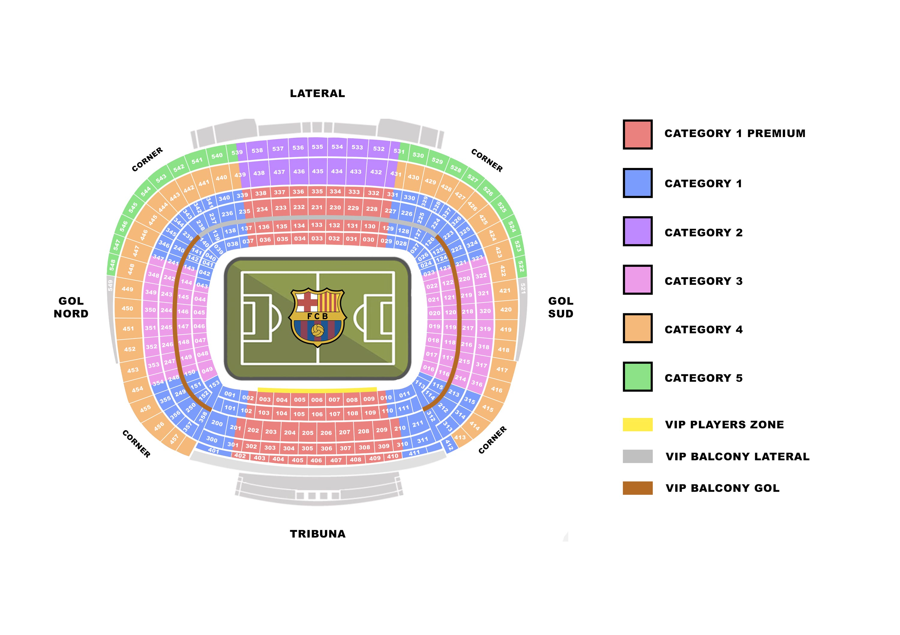 Seatingplan Camp Nou