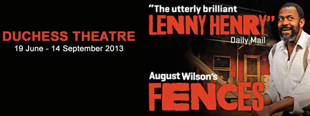 Do not miss Lenny Henry in the great american drama Fences in London West End. Tickets for Fences in London can be booked here!