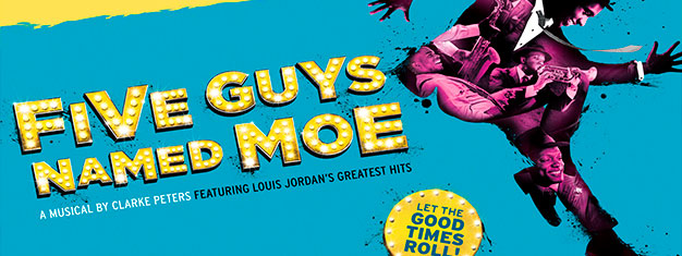 A major new production of the hit West End and Broadway musical, Five Guys Named Moe. Book your tickets for Five Guys Named Moe in London here!