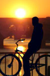 Firenze på sykkel ved solnedgang