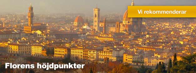 Det är en perfekt introduktion till en av Italiens vackraste städer, Florens. Din informativa guide visar dig höjdpunkterna i Florens. Biljetter på nätet!