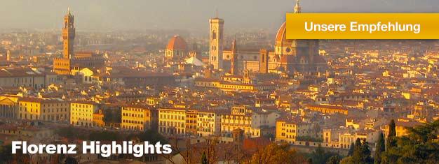Diese Tour ist die beste Einführung in eine der schönsten europäischen Städte - Florenz. Ihr fachkundiger Guide wird Ihnen die Highlights Florenz´ näher bringen.
