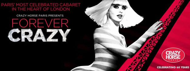Crazy Horse Paris presents Forever Crazy in London, the ultimate cabaret entertainment experience that has been seducing audiences in Paris for over 60 years. Tickets for Forever Crazy in London here!