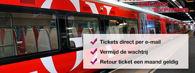 Reis van Gatwick Airport naar Londen centrum met de Gatwick Express. Kinderen tot 5 jaar gratis. Reistijd enkel 35 minuten!
