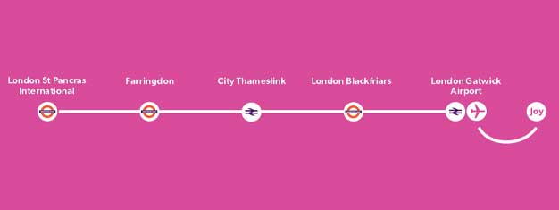 Travel from Gatwick Airport to London with Thameslink, the economical alternative to Express trains. Gatwick to London in approximately 1 hour. Children under 5 travel for free.  Save time and buy tickets in advance.