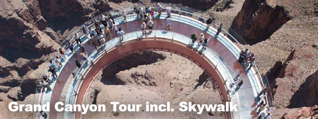 Visit Arizona's most distinguishable landmark  - The Grand Canyon. The tour includes a walk on the Grand Canyon Skywalk. Experience a place like no other!
