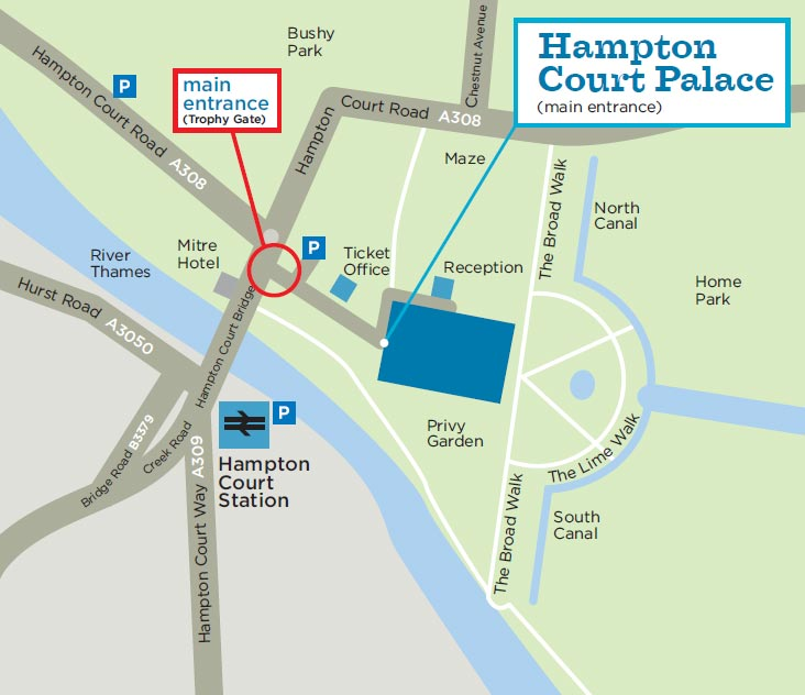 Hampton Court London Map