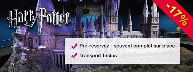 Découvrez où et comment la Saga des films de Harry Potter a vu le jour et découvrez les coulisses des Studios Warner Bross. Essayez le Hogwarts Express! Achetez vos billets et évitez la queue au guichet d'entrée!
