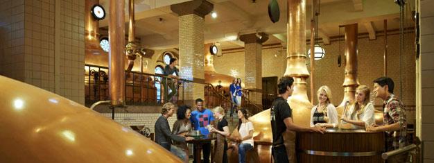 Reserva tu Tour VIP de la Cervecería Heineken y salta las colas a la popular Experiencia Heineken en Amsterdam! Incluye cata de 5 cervezas!